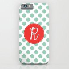 Monogram Initial R Polka Dot Slim Case iPhone 6s