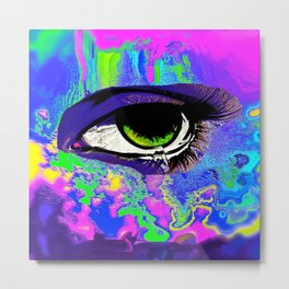 Eyes on You Abstract Metal Print