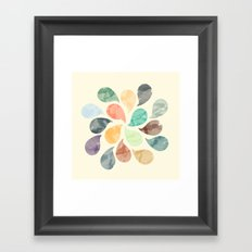 Colorful Water Drops (Watercolor version)  Framed Art Print