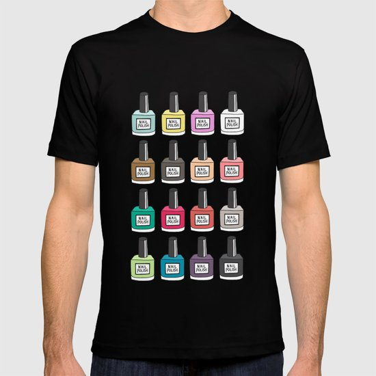 Nail polish holic t shirt by uzualsunday society6 for Polish t shirts online