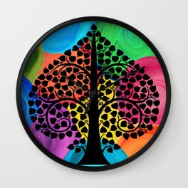 Bodhi Tree0208 Wall Clock