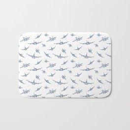 Blue Airplanes Bath Mat