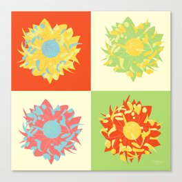 Abstract Chrysanthemums Canvas Print