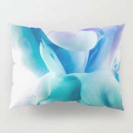 Abstract Colorful Wave on White Pillow Sham