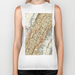 Weehawken, Union City & West New York Map (1935) Biker Tank