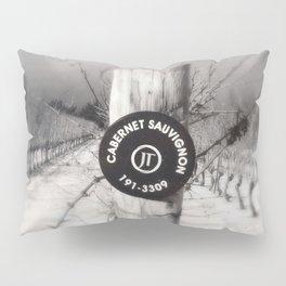 Cabernet - black and white wine photo vineyard Pillow Sham