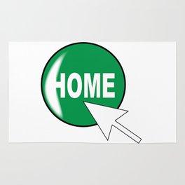 Computer Icon Home Rug