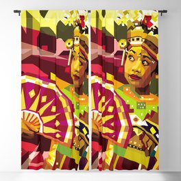 Balinese Dancer in WPAP Blackout Curtain