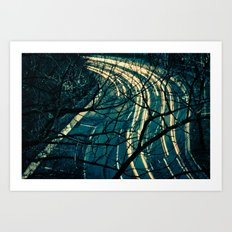 Light Trail Art Print