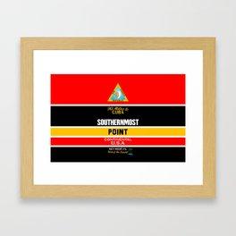 Southern Most Point, Key West, Florida/サザン・モスト・ポイント Framed Art Print