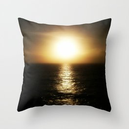 Calais ocean sunset, bloom. Throw Pillow