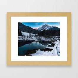 Zelenci springs at dusk Framed Art Print