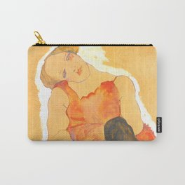 """Egon Schiele """"Woman in Black Stockings"""" Carry-All Pouch"""