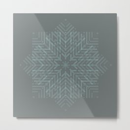 Grey matte tone Geometric illusional effect style for home decoration Metal Print