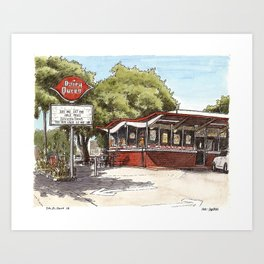 Dairy Queen, Davis Art Print