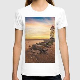 Lighthouse Sunset Wales T-shirt