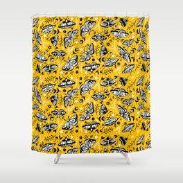 Moths & Flowers Shower Curtain