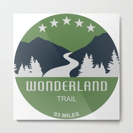 Wonderland Trail Metal Print