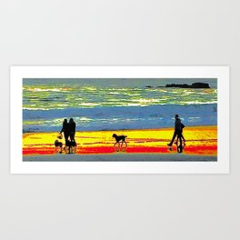Carmel Sunset Stroll Art Print
