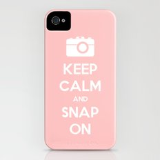 Keep Calm and Snap On Slim Case iPhone (4, 4s)