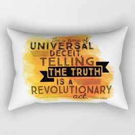 Revolutionary Act - quote design Rectangular Pillow