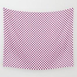 Festival Fuchsia Polka Dots Wall Tapestry