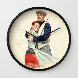 The Quiet Man - Watercolor Wall Clock
