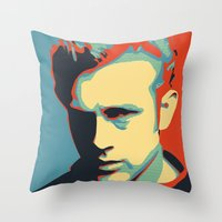 rebel Throw Pillows featuring Rebel by Sparks68