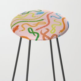 Snakes and Frogs Counter Stool