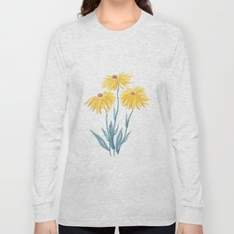 three yellow flowers Long Sleeve T-shirt