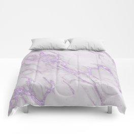 Marble Love Purple Metallic Comforters