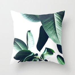 Ficus Elastica #26 #foliage #decor #art #society6 Throw Pillow