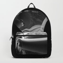 Super Car // Sexy Wheel Base Low Rims Dark Charcol Gray Black and White Backpack