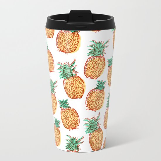 Pineaple express Metal Travel Mug