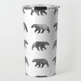 Watercolor Bear - Black & White Travel Mug