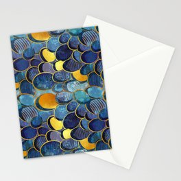 Abstract deep blue Stationery Cards