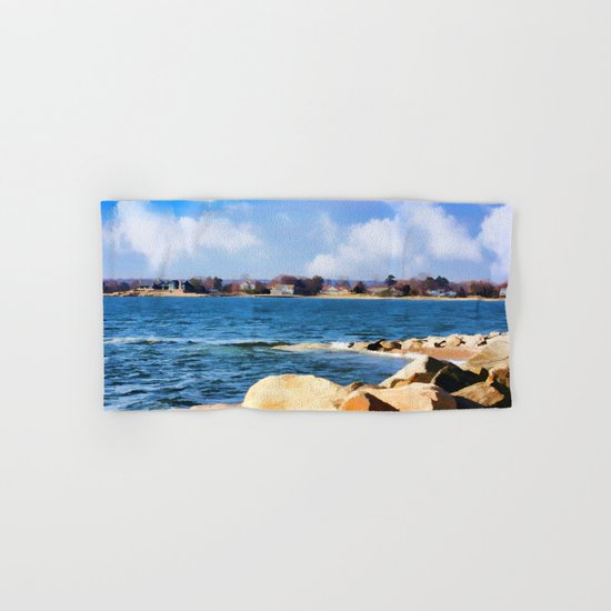 New England Shoreline - Painterly Hand & Bath Towel
