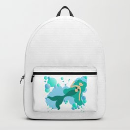 Mermaid blowing bubbles Backpack