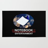 notebook Area & Throw Rugs featuring Notebook Entertainment 2 by NotebookFilms