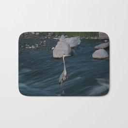 Blue Heron Posing Bath Mat