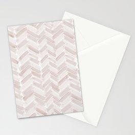 Neutral Blush Chevron Stationery Cards
