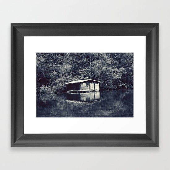 Cabin In The Woods, Revisited Framed Art Print