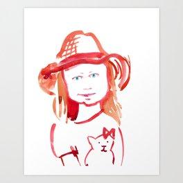 April Girl 3 Art Print