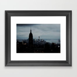 Manhattan Blackout Framed Art Print