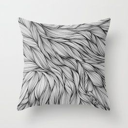 Pin in a Hairstack Throw Pillow