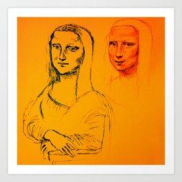 Mona Yellow Art Print