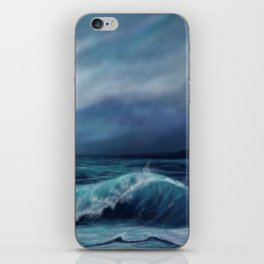 Moody waves iPhone Skin