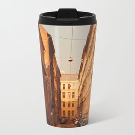 Warm light in the Winter Travel Mug