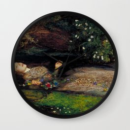 John Everett Millais Ophelia Painting Wall Clock