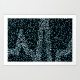 Blue Pulse Art Print